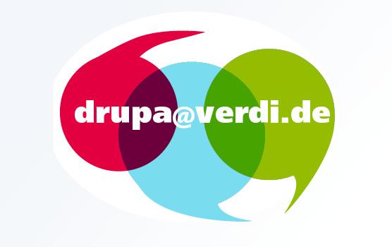 Wenn ihr selbst ein Thema habt – schreibt uns: Ihr bestimmt, wir recherchieren. drupa@verdi.de