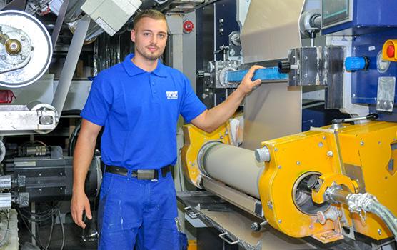 Eugen Schlick ist Tapetendrucker