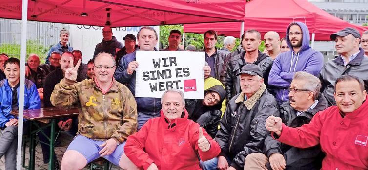 Erste Streikwelle erfolgreich