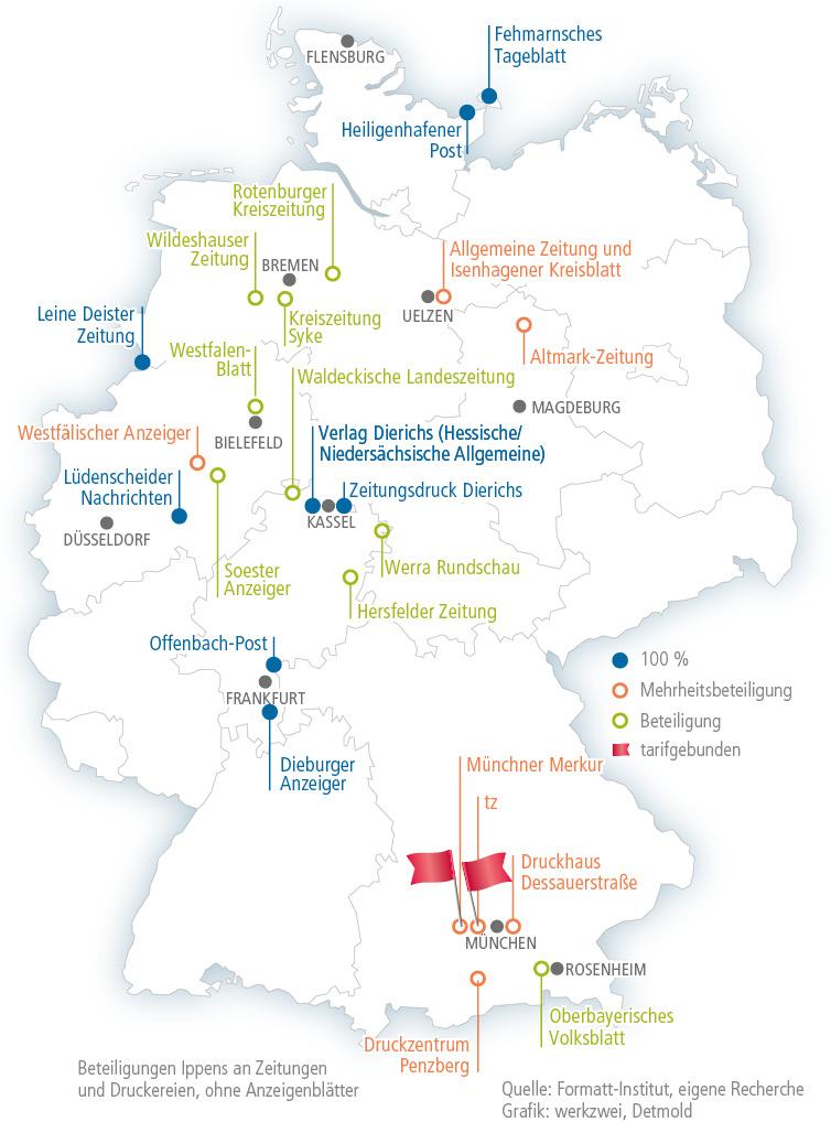 Ippen Betriebe in Deutschland