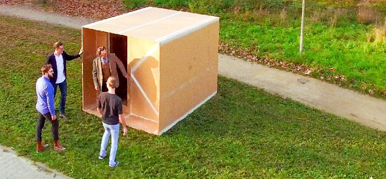 Im Papierhaus wohnen
