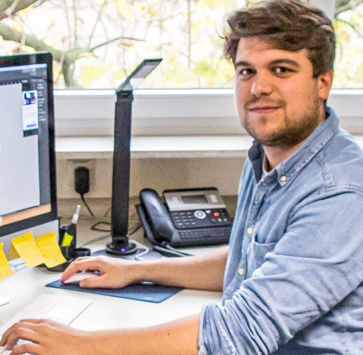 Julian Vogelsang ist Mediengestalter bei Duni