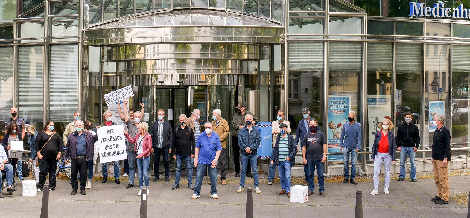 Protest bei der Nordwest-Zeitung