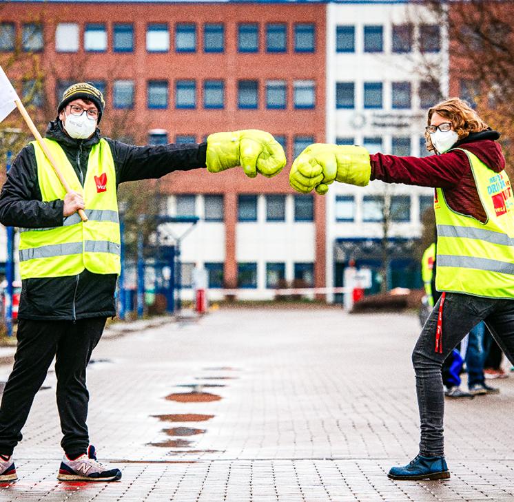 Protest gegen Schließung der Druckerei in Erfurt